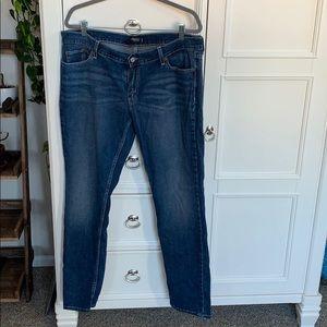 Levi's too super low 524 jeans